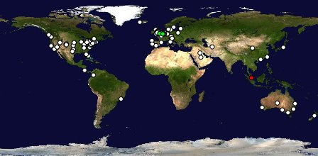 Visitors to TTM from across the world