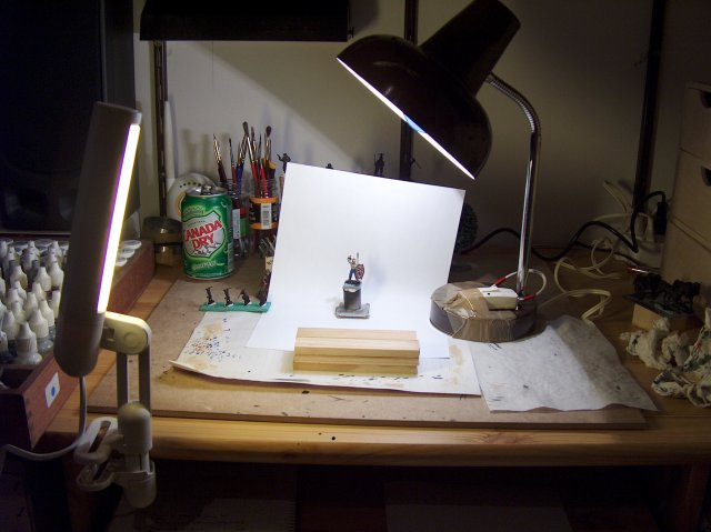 Tiny Tin Men Miniature Photography Part 4 Stage Setup
